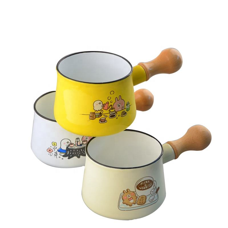 Wholesale enamelware mini milk soup pan pot