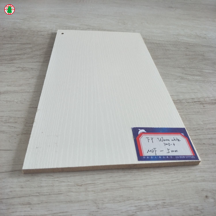 18mm white oak veneer melamine paper MDF