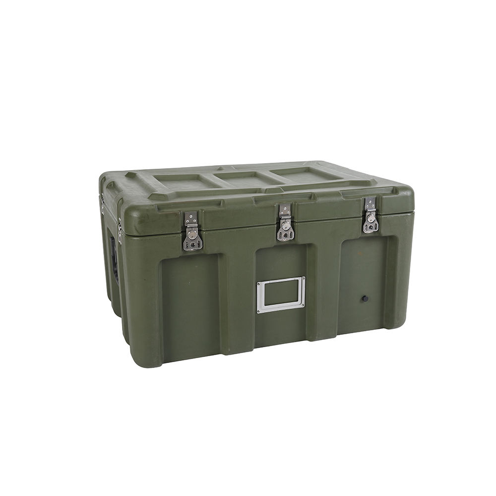 Rugged Waterproof Roto Molded Case Army Case Hard Plastic Military Storage Transport Box