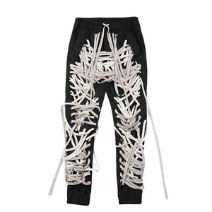 CHICEVER Patchwork Bandage Women's Trouser Casual Slim High Waist Pants Summer 2020 Street wear Fashion