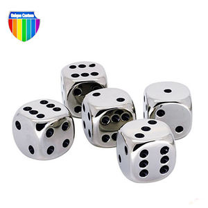 custom made 20 logo printing loaded letter mini 5mm polyhedral metal dice set