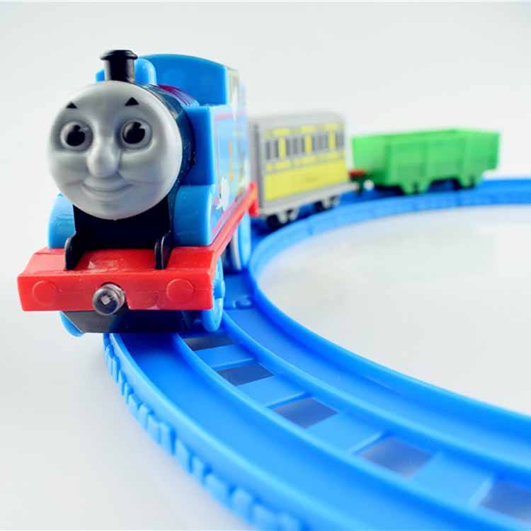 Children's educational toy wheel cartoon railway car cartoon Thomas electric rail car