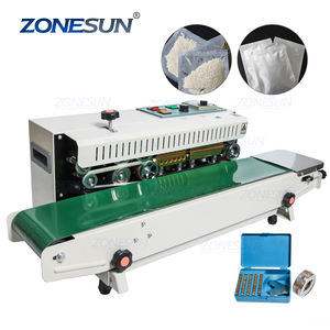 ZONESUN FR-900 Plastic Bag Soild Ink Continuous Band Sealer Sealing Machine Expanded Food Band Sealer
