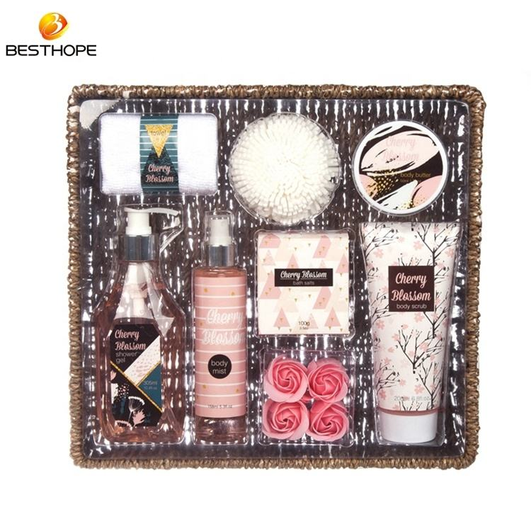 Holiday beauty personal skin care body cream shower gel travelling spa pvc tray bath gift set