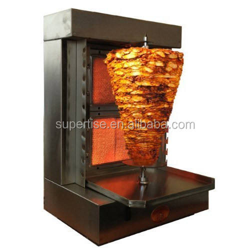 Doner Kebab Shawarma Gas Burner Grill - Vertical Broiler - Automatic 2 Burners Machine Propane Gas