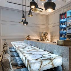 luxury Lounge illuminated crystal white agate stone countertop bar top