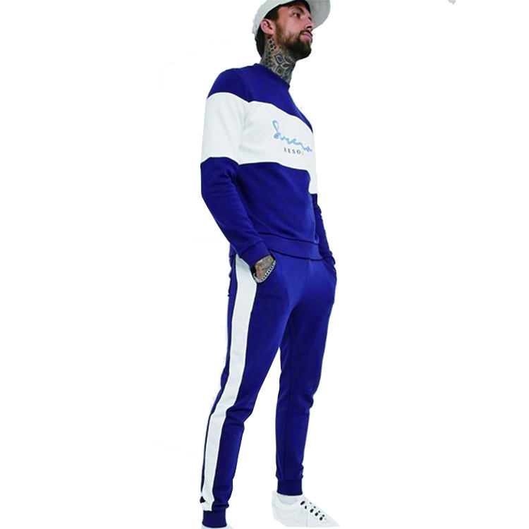 Custom color combination tracksuit jogger suits casual soccer training youth styled stripe tracksuits for men