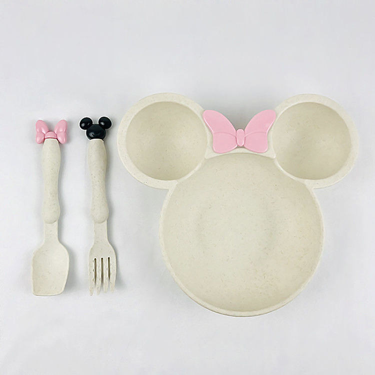6 Inch Mouse Child Soup Wheat Straw Bowl Set
