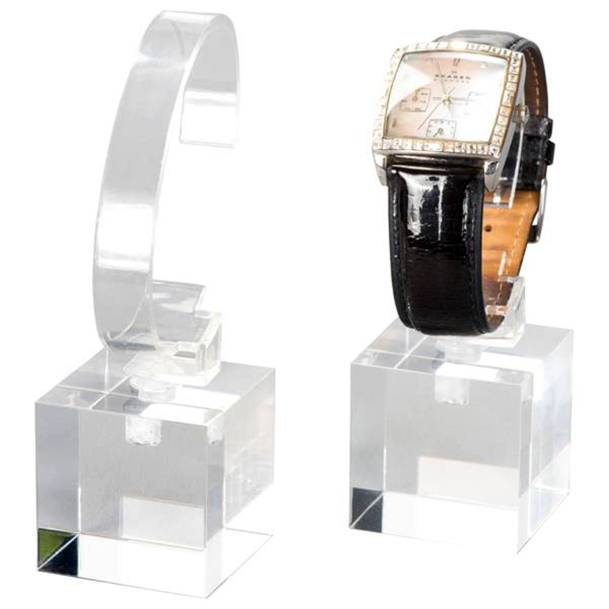 New Design Elegant Acrylic Watch Shop Display Furniture Smart Wrist Watch Display Stand Holder Tray Rack für Displaying Watch