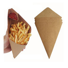 Disposable custom environment take away fast food kraft French fries paper cup