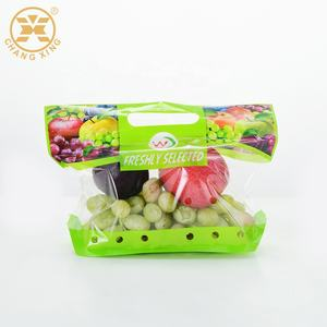 Clear Plastic Freezer Bags For Fresh Vegetable And Fruit Packing / Frozen Food Plastic Packaging Bag With Slider Zipper