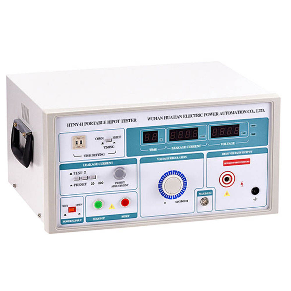 HTNY-H Withstanding Voltage Tester 5kV AC Hipot Tester High Voltage Electrical Safety Compliance Analyzer