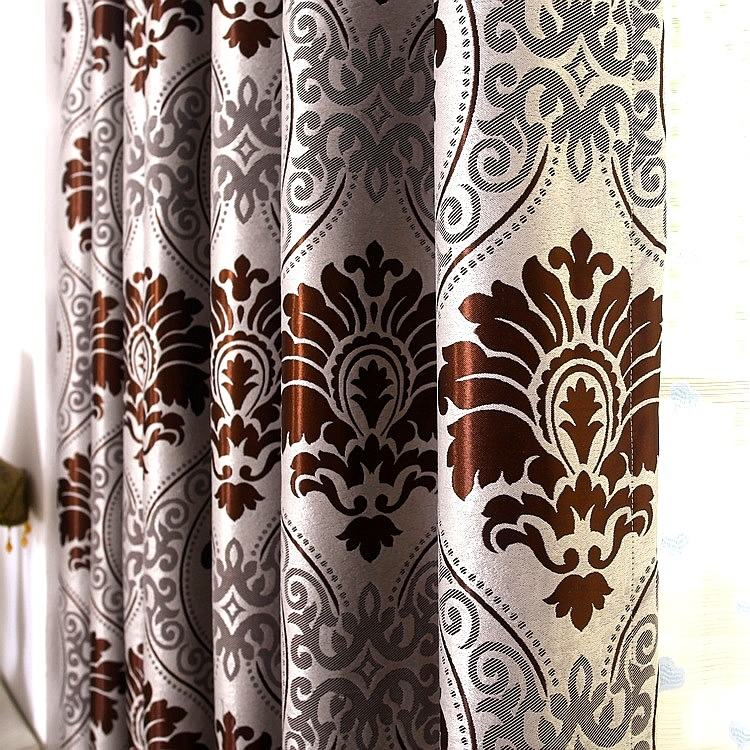 wholesaler jacquard blackout curtain fabric for free sample