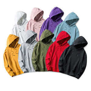 Wholesale custom high quality 100% Cotton blank plain hooded printing color unisex hoodies sweatshirts