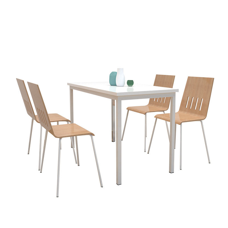 Simple <span class=keywords><strong>Design</strong></span> Restaurant Furniture Coffee Shop 4 Seats Table Set Canteen Tables und Chairs