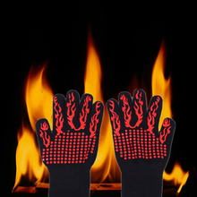silicone heat proof resistant baking bbq gloves oven mitts fireplace gloves hot cook luva de
