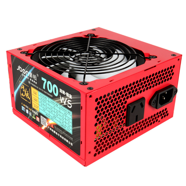 Red 700W 80Plus Pc Power Supply Switching Computer Case Atx Power Supply