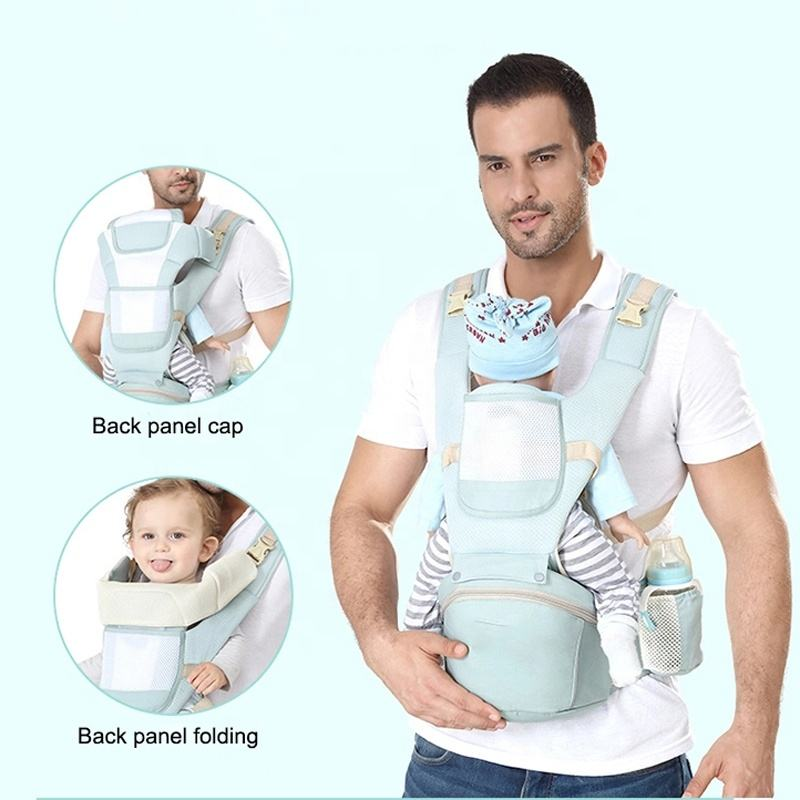 Multifunction Baby Carrier Hip Seat for 3-36 Month Baby, Adjustable Size Baby Carrier Infant, Multi-Position Baby Carrier Wrap