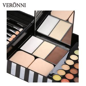 177 farbe Lidschatten Make-Up Palette Sets Shimmer Professionelle Pinsel Lip Gloss Blush Kit Matte Lidschatten Pulver Gesicht Foundation