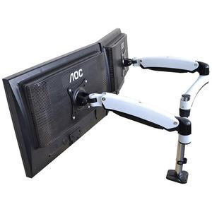Bulk Sale OEM Aluminum Die Casting Height Adjustable Dual Arm Monitor Stand Mount