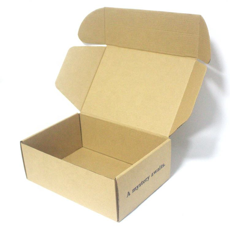 High Quality Custom Printing Kraft Corrugated Standard Collapsible Shoe Box