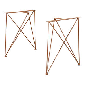 High Quality Antique Table Feet Golden Furniture Leg Metal Sofa Legs Side Table Base Brass Butterfly Hairpin Legs