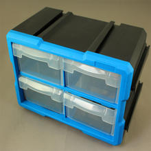 High quality professional tool box large mountable 4 drawers plastic storage boxes TOOLBOX stackable tool box