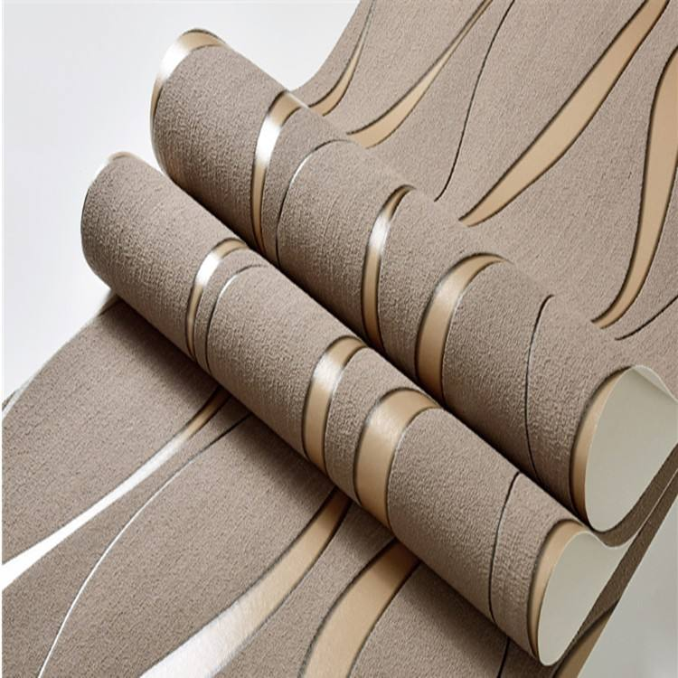 Modern Simple 3d wallpaper home decoration curve stripes living room TV background bedroom wall covering wallpaper decoration