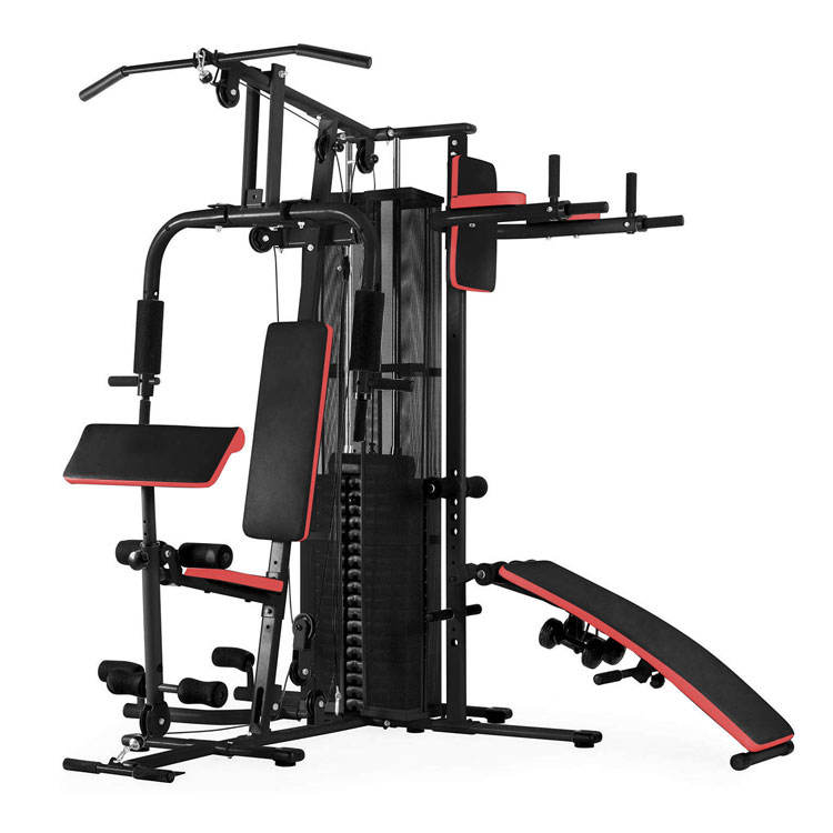 ES-409 Multi Strength Kebugaran 4 Station Rumah Gimnasium Equipment, Rumah Gimnasium Equipment Multi Station Kebugaran