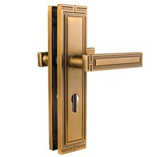 brushed large  vintage brass door handles  open pull