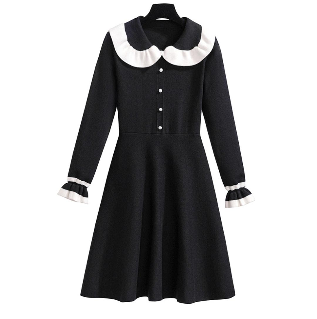 New Design Fashion Women Clothes Casual Wear Women Dress Summer Lady Dress Skirt Black Knit Dress