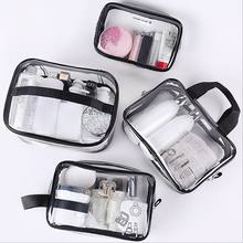 Eco Friendly Private Label Transparent PVC Cosmetic Bag Clear PVC Makeup Toiletry Bag With Zipper