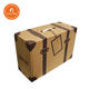 Wholesale Vintage Customizable Logo Kraft Paper Cardboard Suitcase Packaging Gift Box Kraft Mailbox With Handle