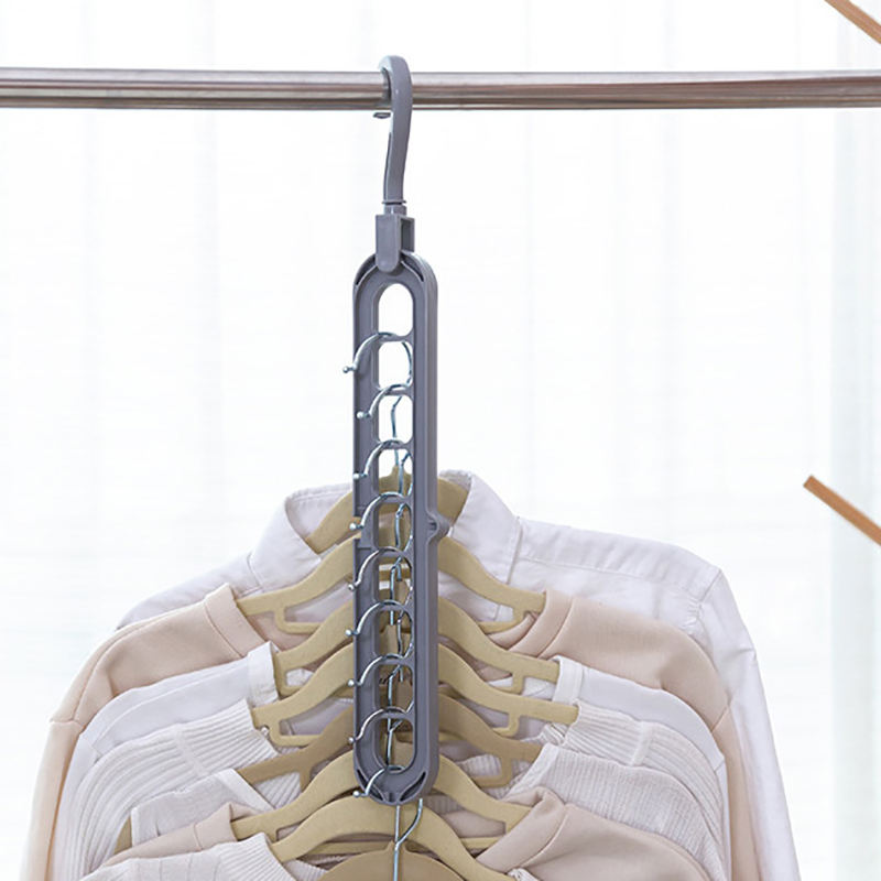 Multi-port Clothes Hanger Clothing Drying Rack Plastic Nine Hole Hanger Scarf and Ties Storage pants Racks