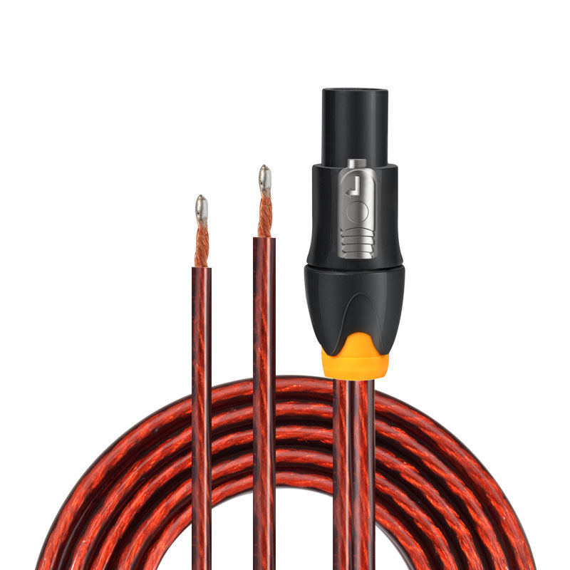 GOLLEY LION NL4FC Speakon Cable 14 Gauge AWG to 2 Braided Wire Plug Active Speaker Cable