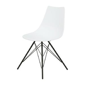 Grey white designer restaurant cafe bistro dining room plastic chair