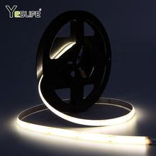 180 degree big view angle high bright silicone tube waterproof 24v flexible fob cob led strip without light dot