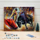 Hand Modern Art Paintings Wall Canvas Living Room Hot Selling Landscape Decoration Bullfighting Oil Painting By Numbers