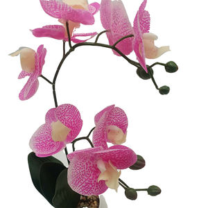 Top Quality China Supplier Artificial Silk Real Touch Orchid Flower Stem Branch in Vase