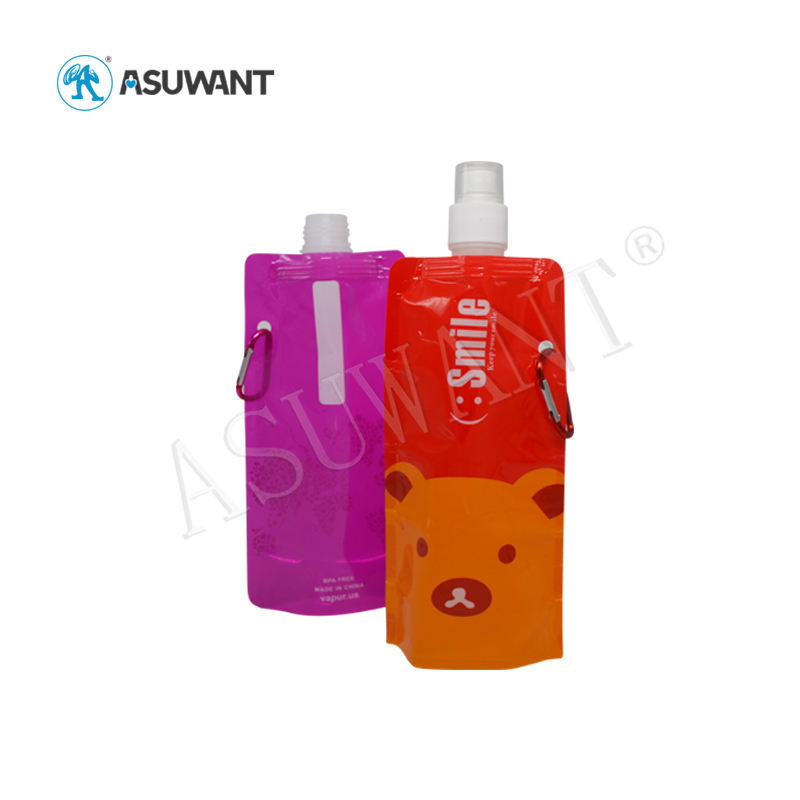 ASUWANT Biodegradable Laminated Recycled Resealable Custom Wholesale Stand Up Spout Pouch