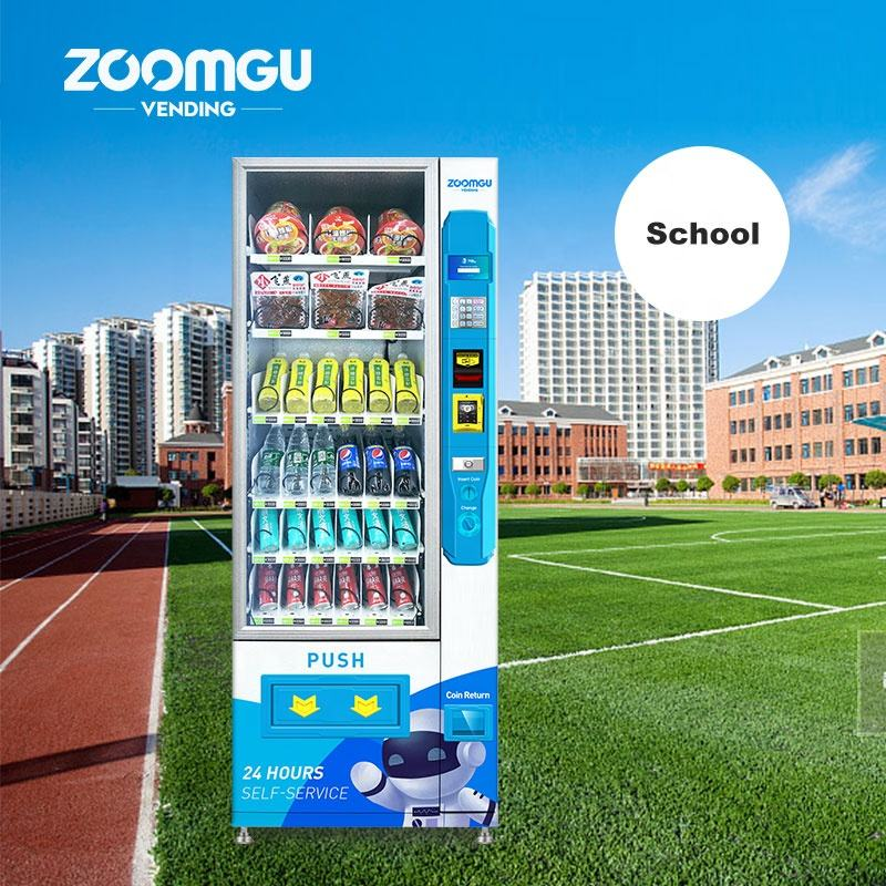Zoomgu Mini Automatic Combo Snack/Drink Vending Machine 24 hours service-help vending machine