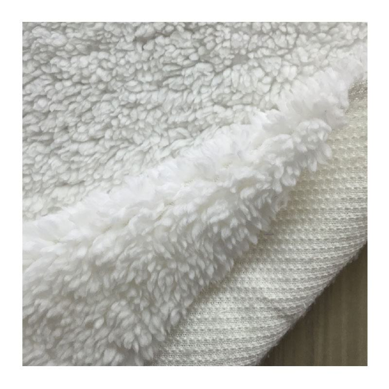 100% polyester knitted sherpa fur fabric