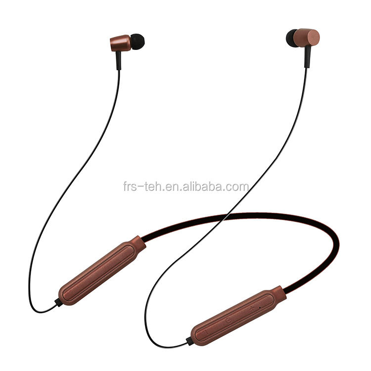 Magnetic in-ear earphones wireless rechargeable cordless earbuds with Bluetooth connection