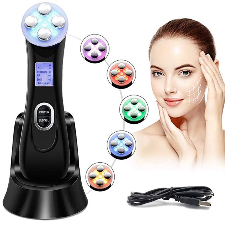 Multifunction RF / EMS / LED Ultrasonic Light Therapy Gavalnic Acne Beauty Device Machine