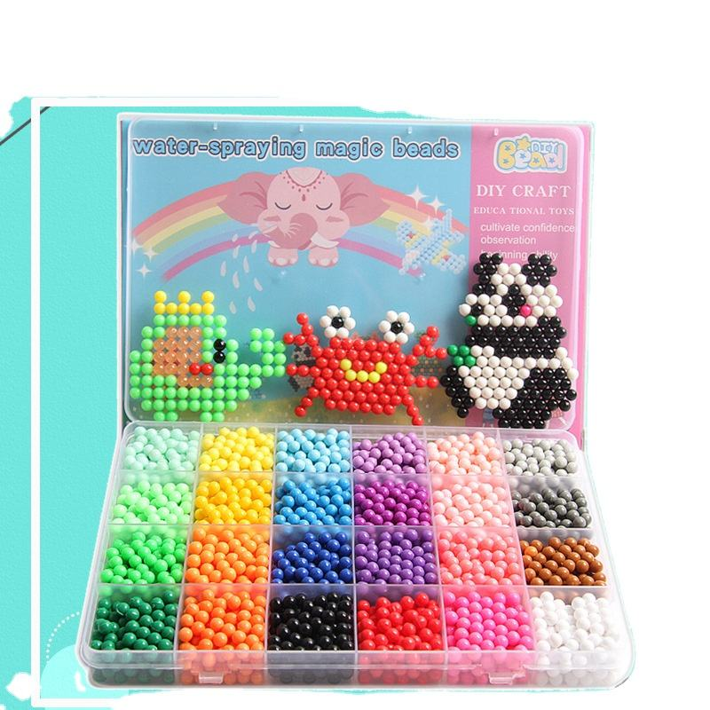 Newest design Preschool Educational Toys Bonded Water Fuse Perler Beads DIY Glass Millet Beads toys for Kids