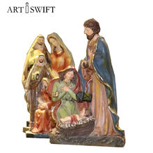 chinese factory price sculpture resin catholic saint statues figure home decoration