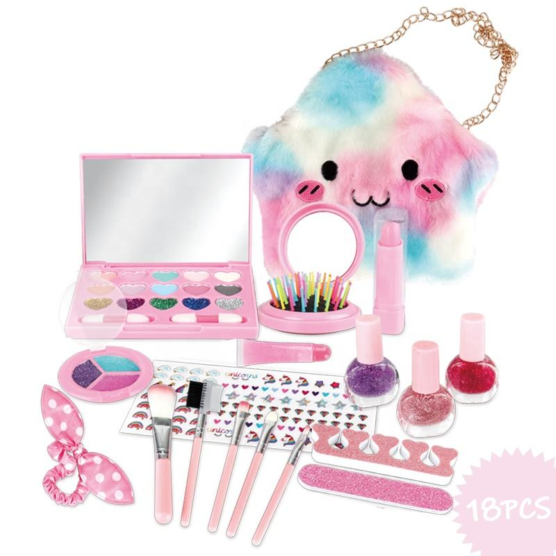 huanuo pretend toy make up beauty gift girls sets cosmetics play makeup for kids