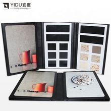 stone sample bookNew quartz stone stone sample display box book shape book