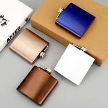 yongkang factory custom color 304 stainless steel 6oz hip flask