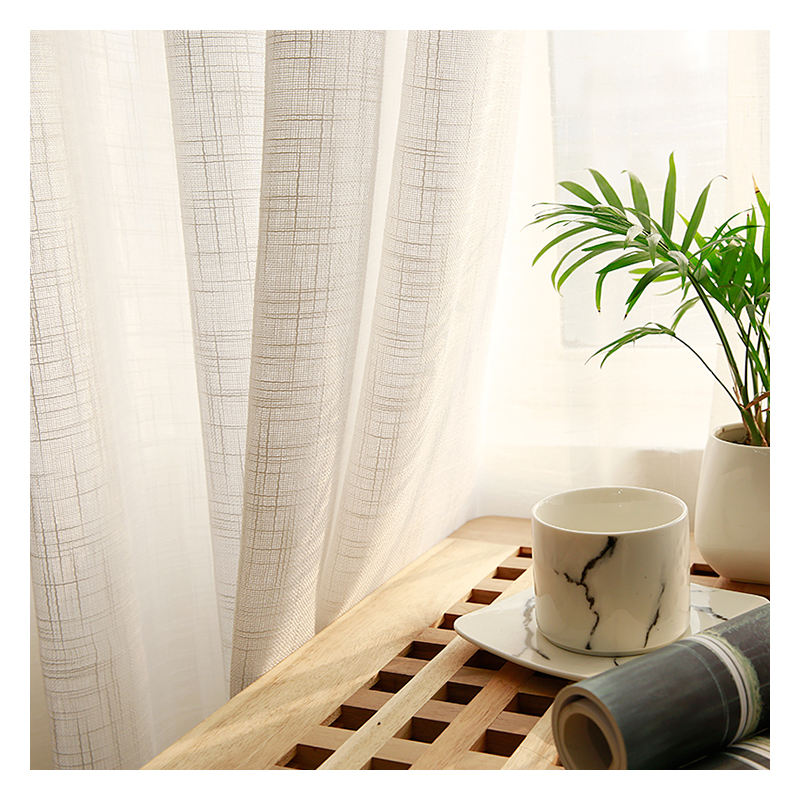 Innermor Solid Tulle Curtains For Living room American modern style curtains for bedroom white curtains for kitchen Customized
